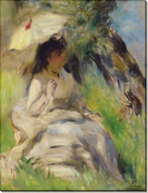 Молодая женщина с зонтиком, 1872 - Ренуар, Пьер Огюст