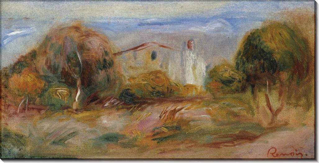 Пейзаж с домами, 1910-14 - Ренуар, Пьер Огюст