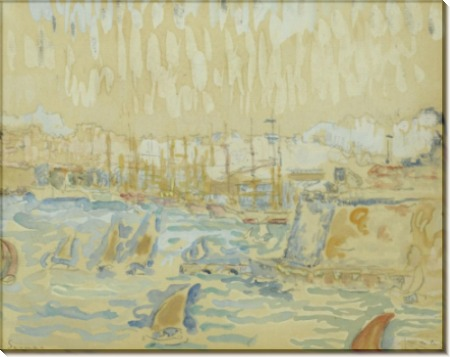 Порт в Марселе, 1904 - Синьяк, Поль