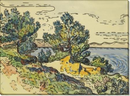 Морское побережье с деревьями, 1894 - Синьяк, Поль