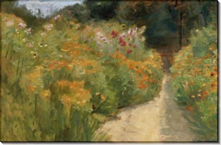 Цветы в саду Ванзе, 1919 - Либерман, Макс