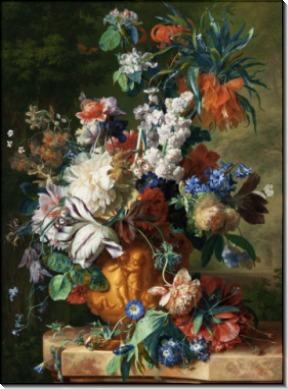 Букет цветов в терракотовой вазе - Хейсум,  Ян ван