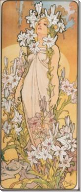 Цветы - лилии - Муха, Альфонс