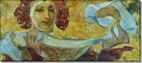 Женщина с шарфом - Муха, Альфонс