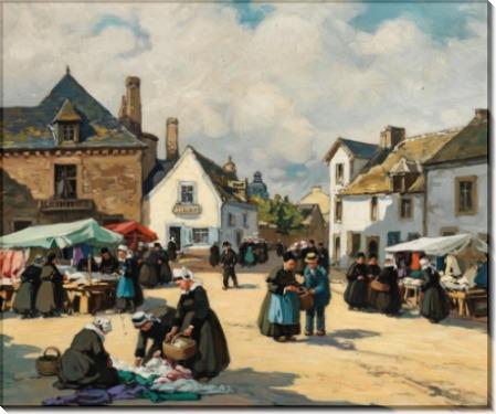 Бельевой рынок в Бретани - Барнуан, Анри Альфонс