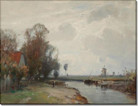 Голландский речной пейзаж - Виллройдер, Людвиг