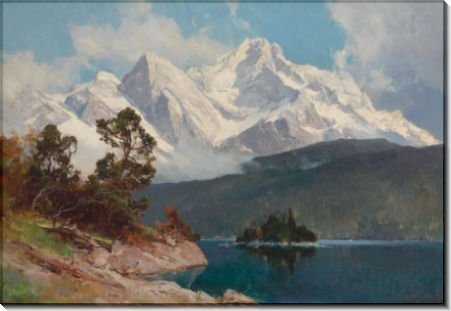 Озеро Айбзе с пиком Цугшпице - Комптон, Эдвард Харрисон