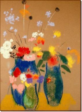 Три вазы с цветами - Редон, Одилон
