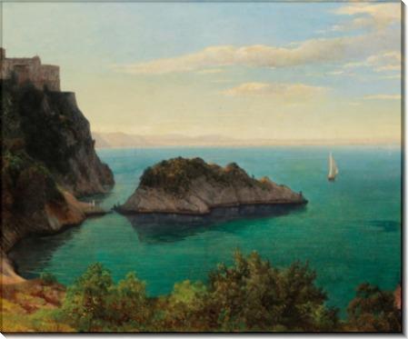 Вид на замок Дуино близ Триеста - Эндер, Томас