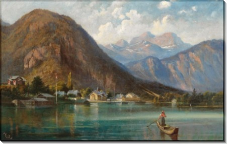 Вид на Вайсенбах на озере Аттерзе