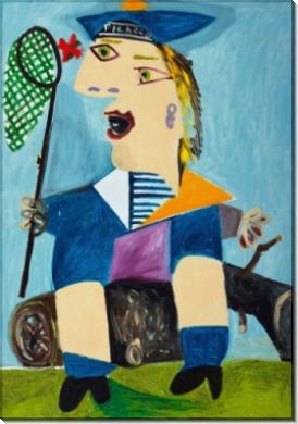 Майя в одежде моряка - Пикассо, Пабло