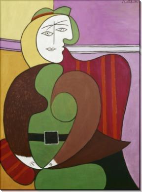 Красное кресло - Пикассо, Пабло
