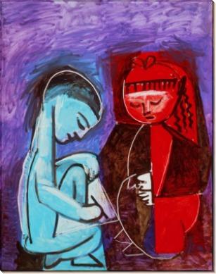 Два ребенка - Пикассо, Пабло