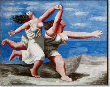 Две женщины, бегущие по пляжу - Пикассо, Пабло
