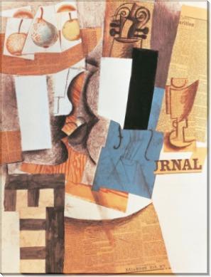 Натюрморт с вазой и фруктами - Пикассо, Пабло