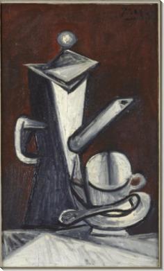 Натюрморт с кофейником - Пикассо, Пабло