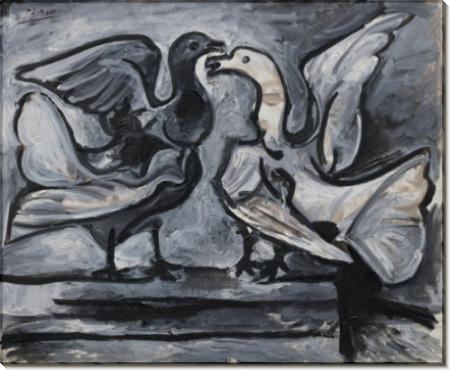 Два голубя - Пикассо, Пабло