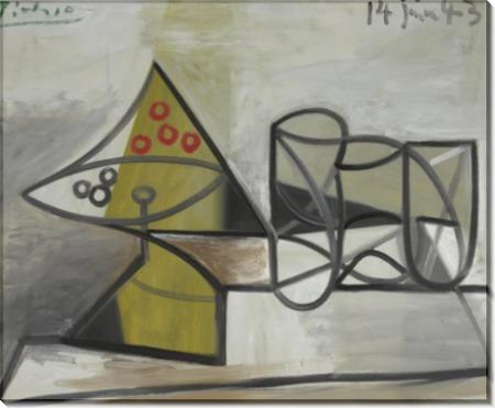 Компотница и стаканы - Пикассо, Пабло