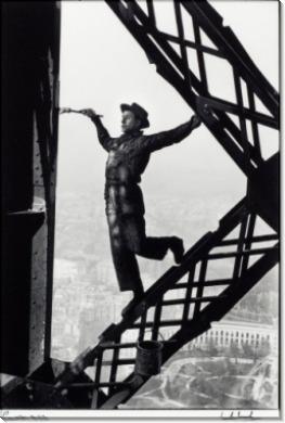 Маляр на Эйфелевой башне, Париж, 1953 - Рибу, Марк