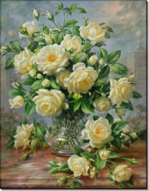 Розы принцессы Дианы в стеклянной вазе - Вильямс, Альберт
