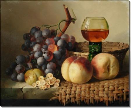Натюрморт с фруктами и бокалом - Ледел, Эдвард