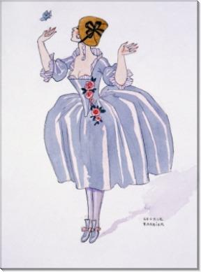 Иллюстрация к Галантным празднествам Поля Верлена - Барбье, Жорж