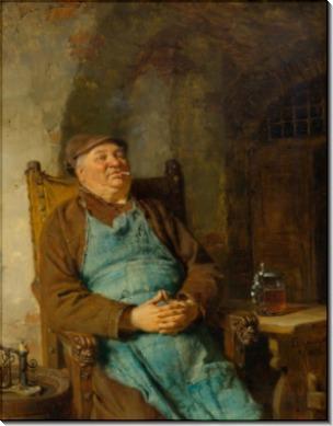 Пивовар с сигарой - Грютцнер, Эдуард фон