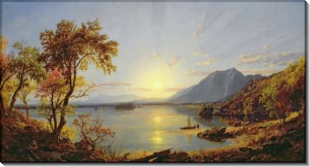 Закат на озере Джорджа - Кропси, Джаспер Фрэнсис