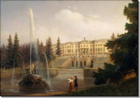 Вид на Большой Каскад и Большой Петергофский дворец - Айвазовский, Иван Константинович