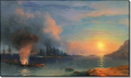 Высадка флота на морской берег - Айвазовский, Иван Константинович