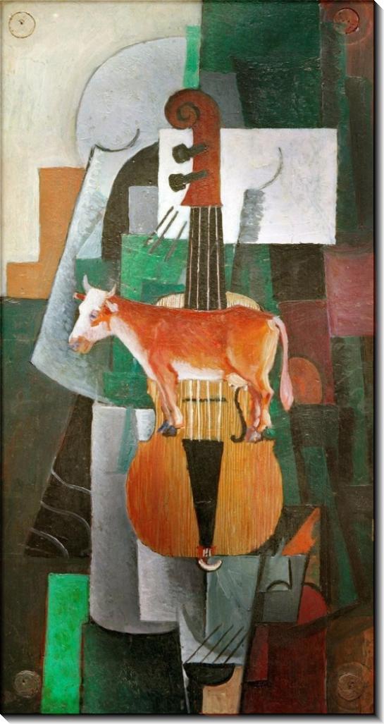 Корова и скрипка - Малевич, Казимир
