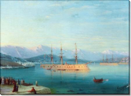 Французские корабли, покидающие Черное море - Айвазовский, Иван Константинович