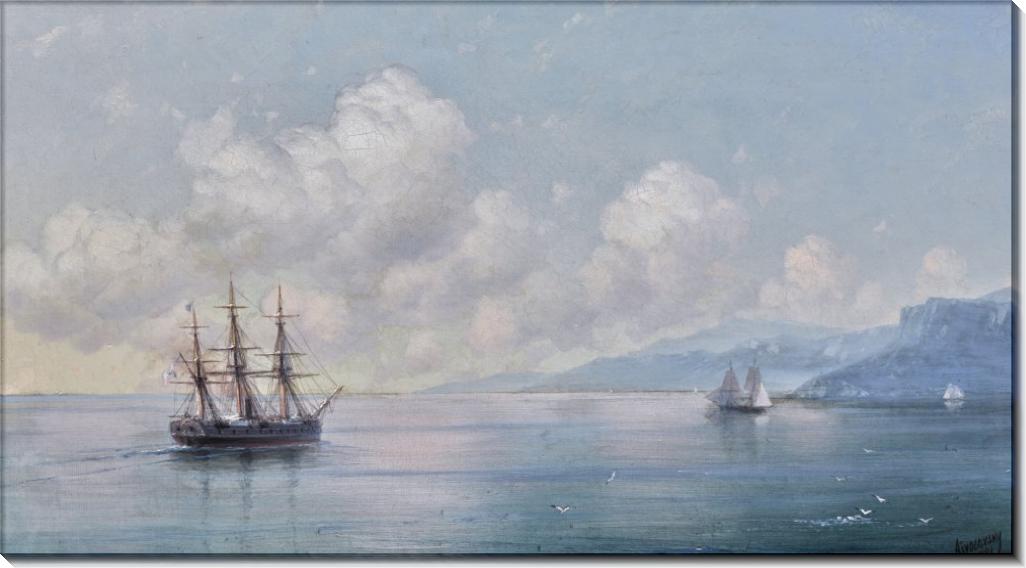 Корабль, покидающий крымское побережье - Айвазовский, Иван Константинович