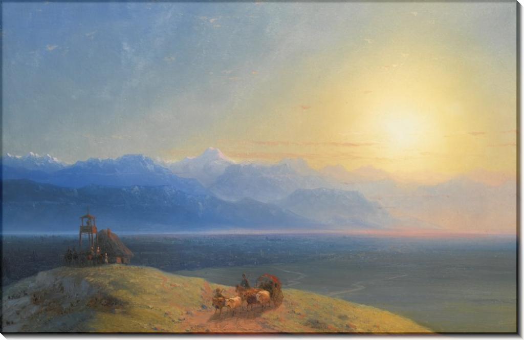 Кавказский пейзаж с горой Казбек - Айвазовский, Иван Константинович