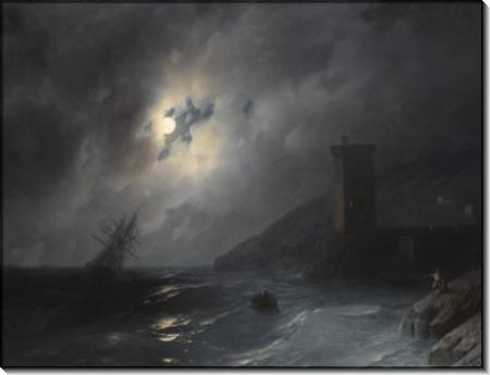 Берег в лунном сиянии - Айвазовский, Иван Константинович