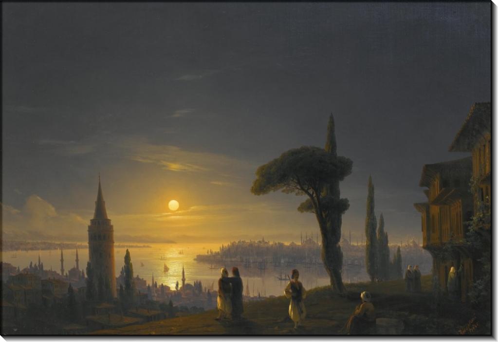 Галатская башня лунной ночью - Айвазовский, Иван Константинович