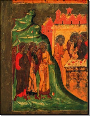Три ангела, идущие к Аврааму, ок.1600