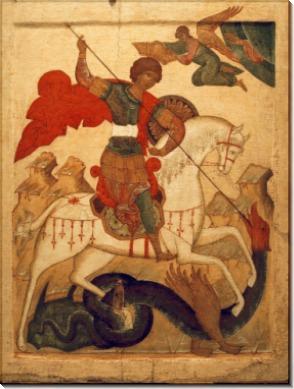 Святой Георгий и Дракон, Московская школа, 16 век, 61х47