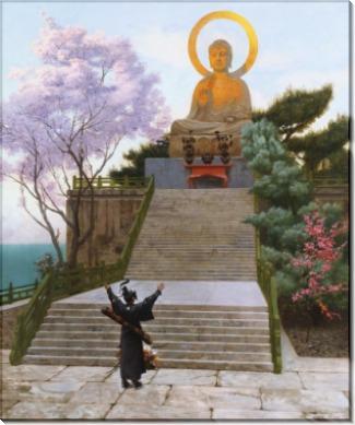 Японец, молящийся божеству - Жером, Жан-Леон