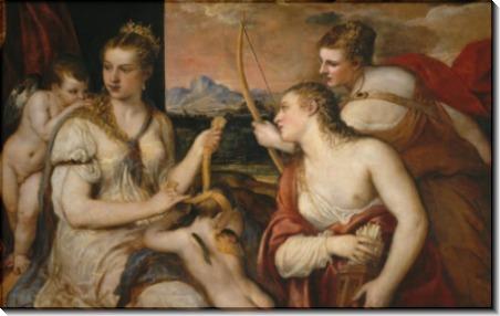 Венера завязывает глаза Амуру - Тициан Вечеллио