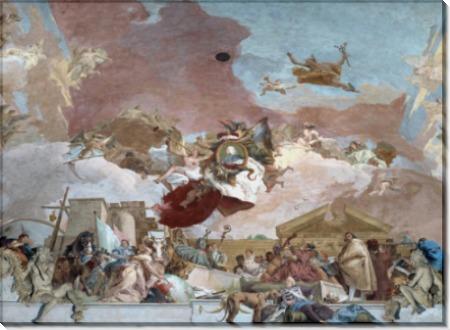 Аполлон и континенты, деталь - Европа - Тьеполо, Джованни Баттиста