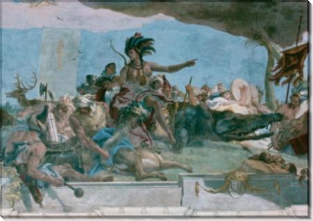 Аполлон и континенты, деталь - Америка - Тьеполо, Джованни Баттиста