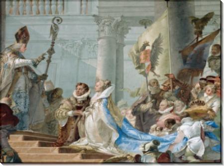Бракосочетание императора Фридриха Барбароссы с Беатрис Бургундской, деталь - Тьеполо, Джованни Баттиста