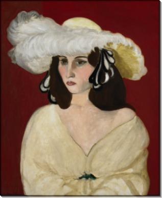 Белая шляпка - Матисс, Анри
