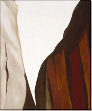 Каньон, белые и коричневые скалы - О'Кифф, Джорджия