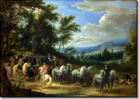 Встреча Филиппа-Франсуа Аренберга с войсками - Мёлен, Адам Франс ван дер