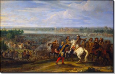 Людовик XIV форсирует Рейн в Лобите 12 июня 1672 года - Мёлен, Адам Франс ван дер