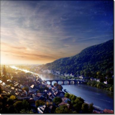 Мост через реку в Германии - Сток