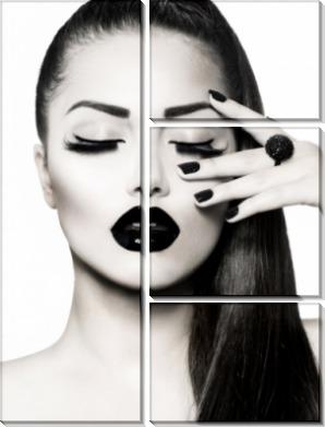 Девушка с черными губами - Сток