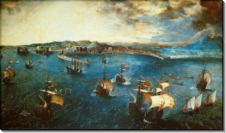 Морской бой в Неаполитанском заливе - Брейгель, Питер (Старший)